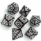 Black & White Steampunk Dice Set
